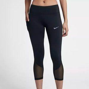 Nike Dri-Fit Black Mesh Crop Leggings